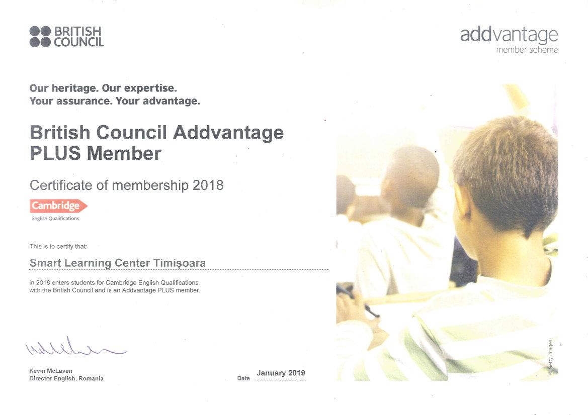 Centrul de limbi straine Smart - partener oficial Cambridge 2018