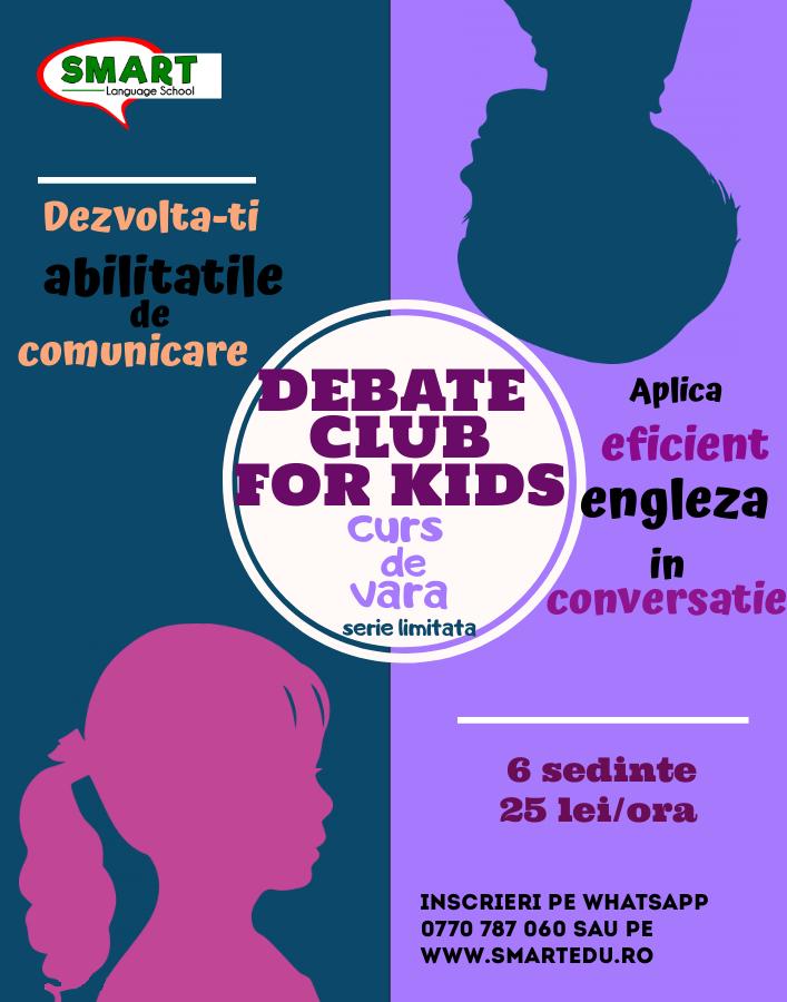 Curs de dezbatere si dezvoltare personala pentru copii